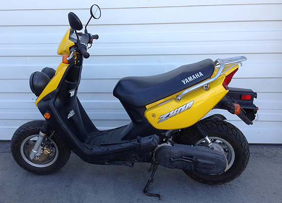 2003 Yamaha Zuma Yw50 Sports Scooter Right Hand Control