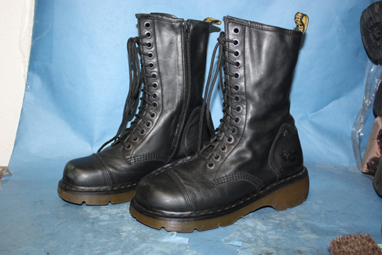 New Vintage Military Lace Up Hipster Boots / CORCORAN Black