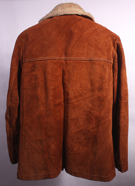 VTG WILLIAM BARRY SOFT LEATHER/FAUX SHEEPSKIN COAT   38