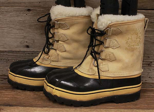 mens polar pac canadian leather rubber snow winter boots
