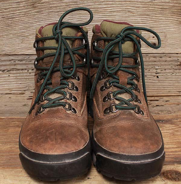 womens leather cabelas goretex brown trial hiking boots sz 8b