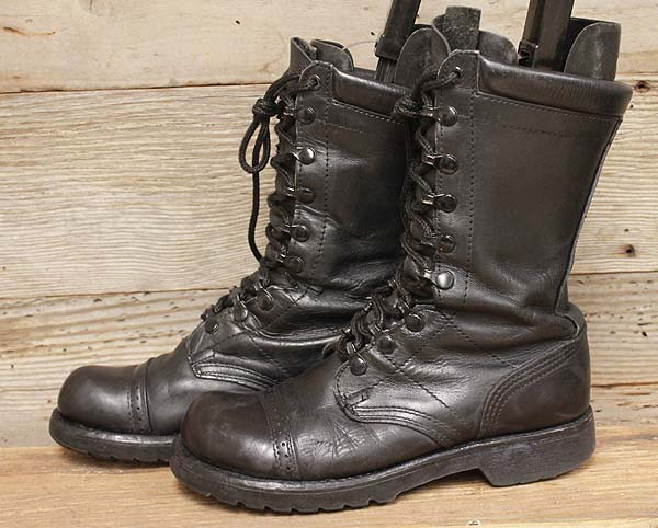 corcoran womens black leather combat jump boots sz 7 ebay